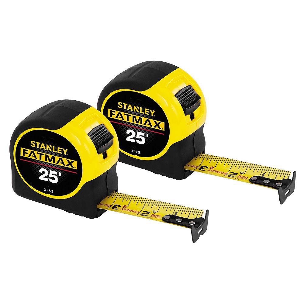 STANLEY FATMAX FATMAX 25 ft. Tape Measure (2-Pack)