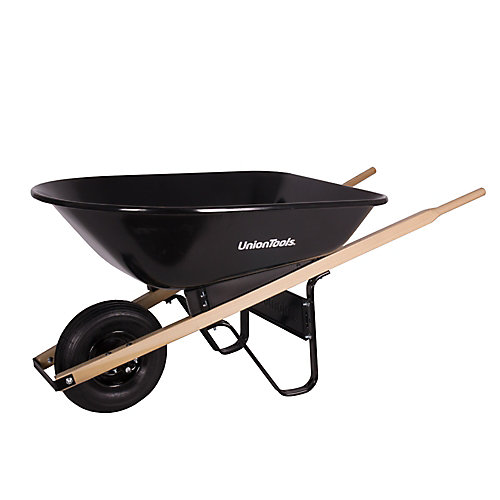 5 cu. ft. Wheelbarrow with Steel Tray