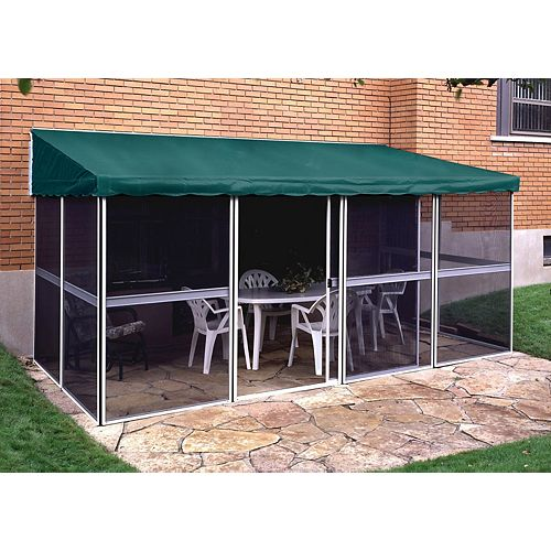 Add-a-Room 11 ft. 4-inch x 22 ft. 7-inch Deluxe Solarium in White/Green