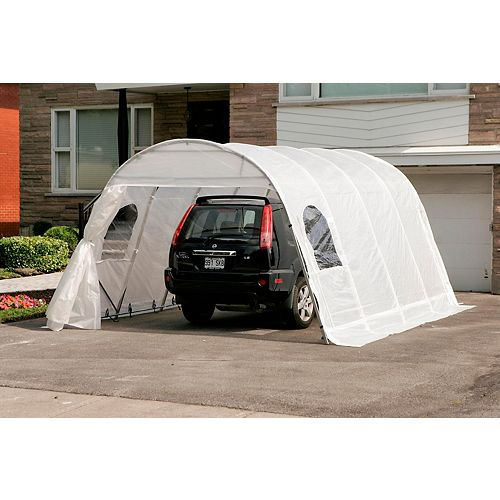 Jaguar 12 ft. x 16 ft. Car Shelter with Clear Roof & Straps