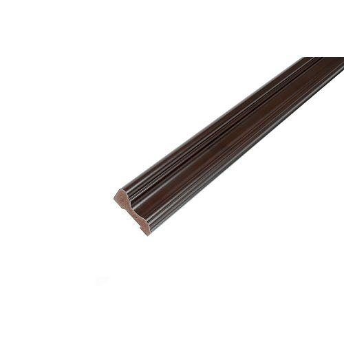 Chair Rail - Prefinished Ready to Install - Fauxwood Espresso - 5/8 In. x 13/16 In. x 8 Ft.