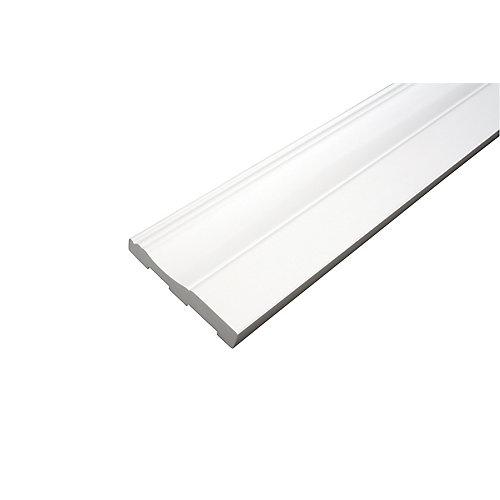 Plinthe - Prêt à installer - Fauxwood Blanc - 3-1/2 po. x 5/8 po. x 8 pi