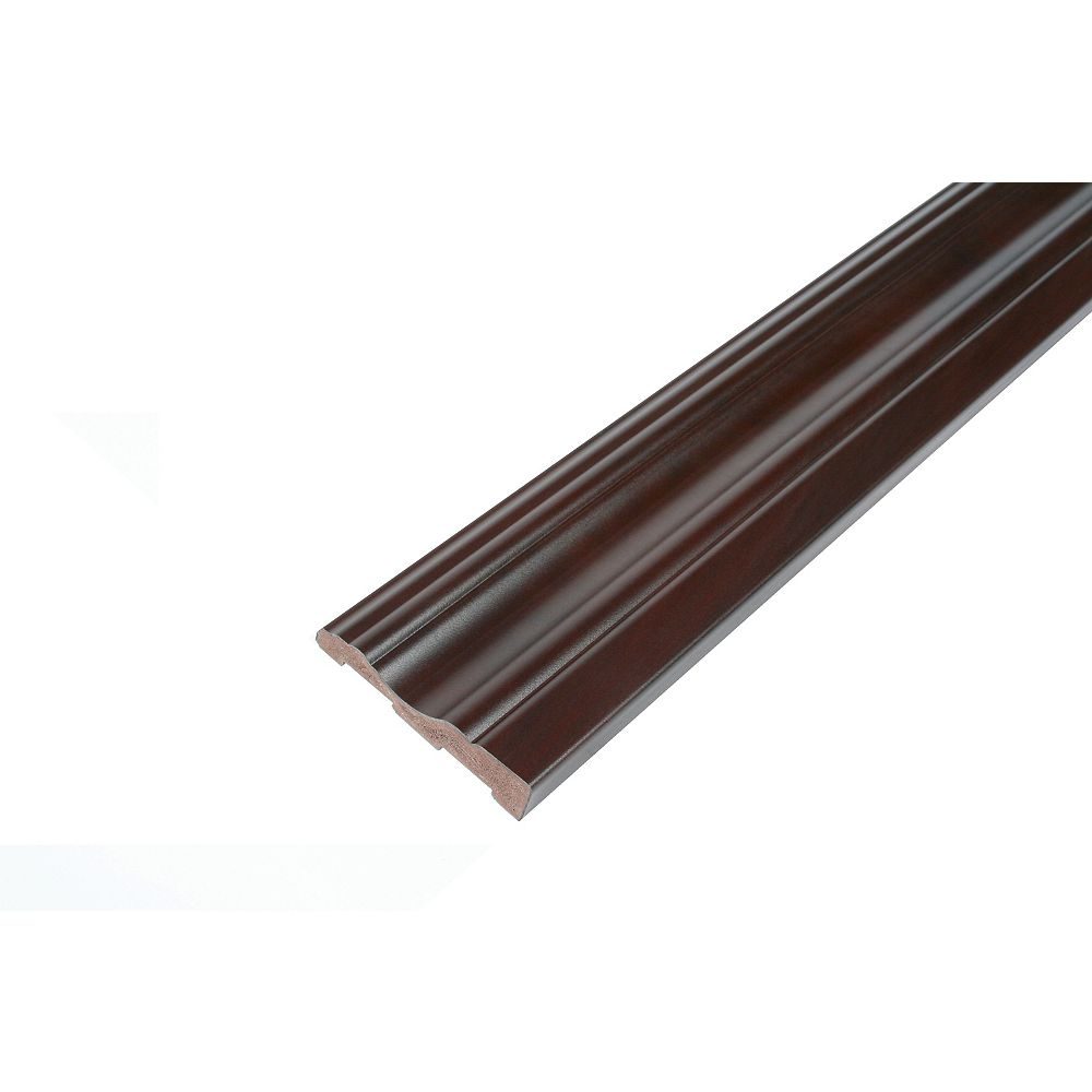 R2i Millwork Casing - Prefinished Ready to Install - Fauxwood Espresso - 2-3/4 In. x 5/8 In. x 8 Ft.