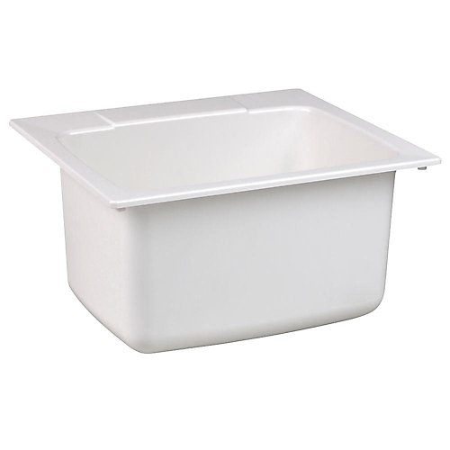 22-inch x 25-inch Moulded Fiberglass Self-Rimming Utility Sink in White