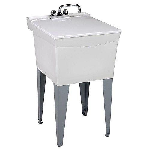 Cuve de lessivage Utilatub avec robinet, tuyaux dalimentation et siphonP
