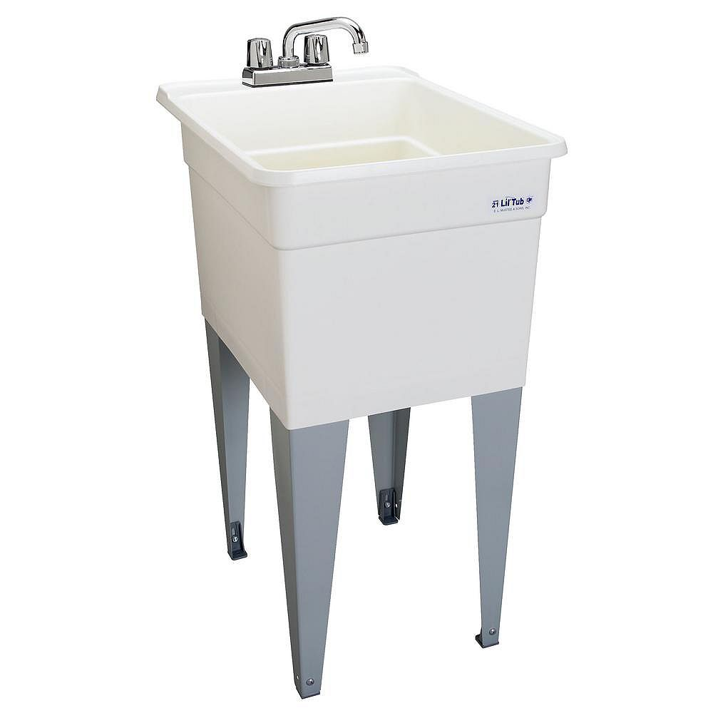 MUSTEE LilTub Laundry Tub Single 18 In. wide