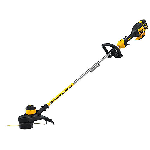20V MAX Li-Ion Cordless 13-inch Brushless Dual Line String Grass Trimmer w/ 5.0Ah Battery and Charger Included