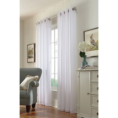 Home Decorators Collection Panneau à œillets, blanc, 54 x 84
