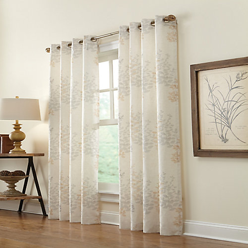 Lana Light Filtering Grommet Curtain 50 inches width X 84 inches length, Ivory