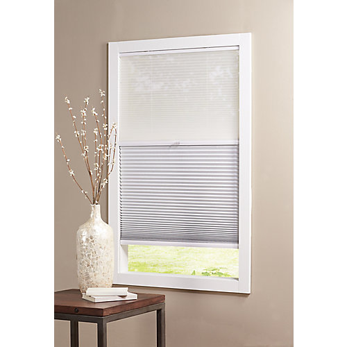 Snow Drift/Shadow White Cordless Day and Night Cellular Shade- 48-inch W x 48-inch L (Actual 47.625-inch W x 48-inch L)