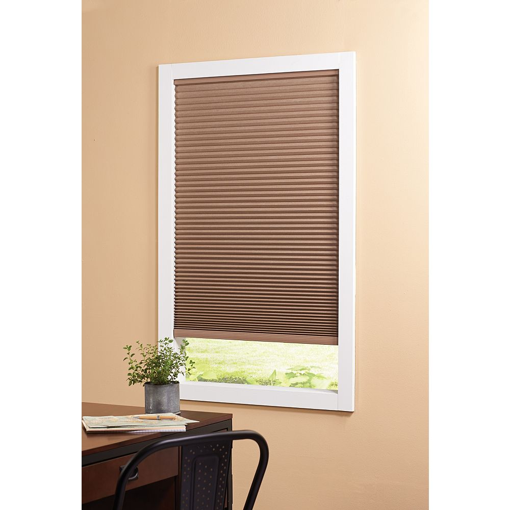Home Decorators Collection 36-inch W x 72-inch L, Blackout Cordless Cellular Shade in Dark Espresso Brown