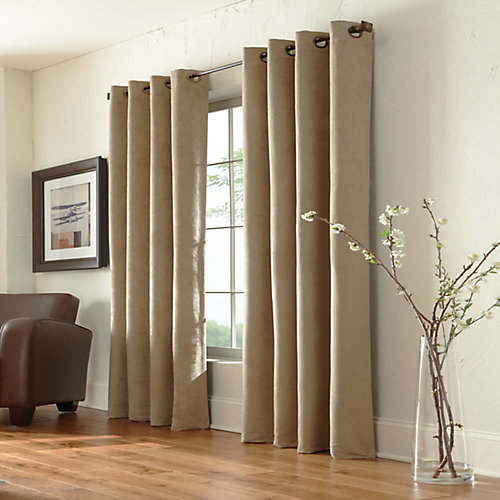 Navar 100% Blackout Grommet Curtain 54 inches width X 84 inches length, Taupe