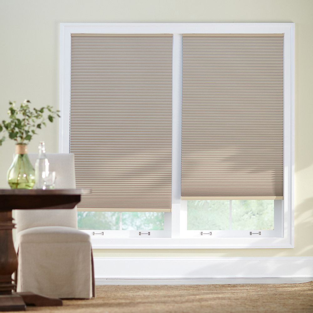 Home Decorators Collection 60-inch W x 48-inch L, Blackout Cordless Cellular Shade in Sahara Tan