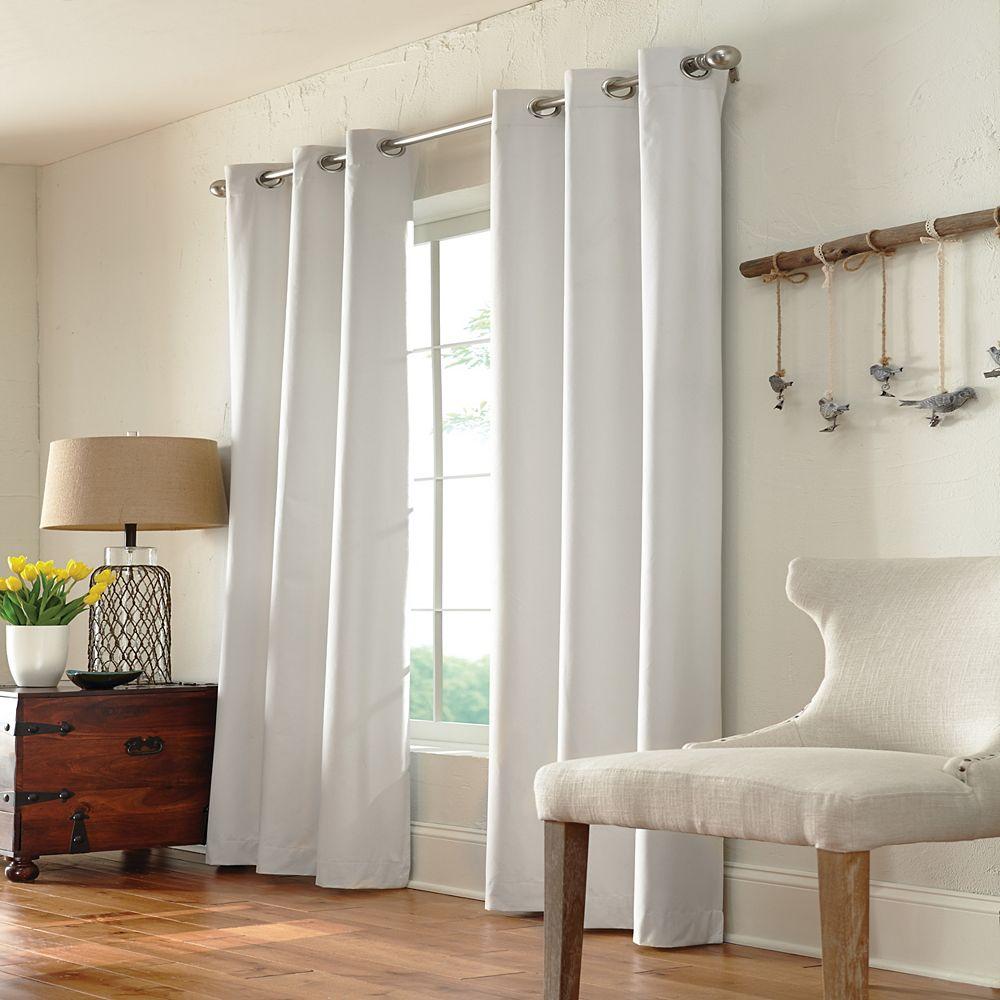 Home Decorators Collection December Rideau à Oeillets 100% Obscurcissant 40 pouces largeur X 84 pouces longueur, Natural