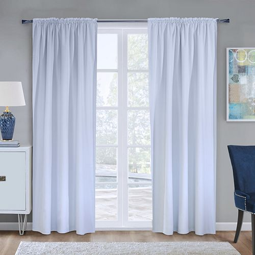 100% Blackout Curtain Liner Universal Hanging 45 inches width X 88 inches length, White