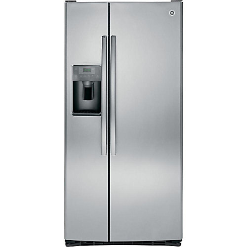 33-inch 23.1 cu. ft. Side by Side Refrigerator in Stainless Steel