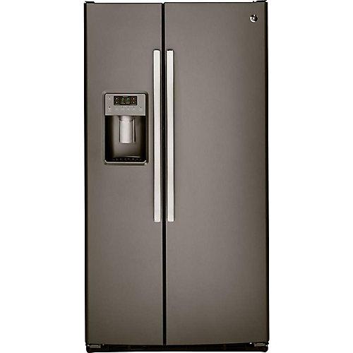 36-inch 25.4 cu. ft. Side by side Refrigerator in Slate