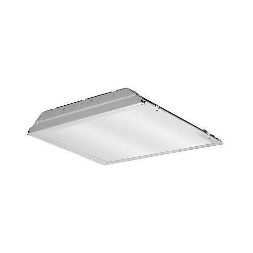 2 ft. x 2 ft. White LED Lay-In Troffer with Prismatic Lens