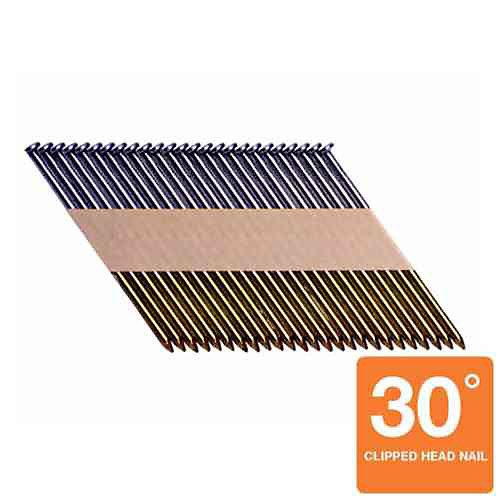 Clous 30degrés à tige lisse brillante de 3 x 0,120po (1000 par boîte)