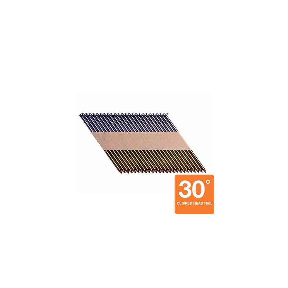 Grip-Rite Clous 30degrés à tige lisse brillante de 3 x 0,120po (1000 par boîte)