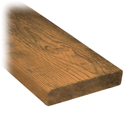 Giron de marche en bois traité de 2 x 12 x 48 po