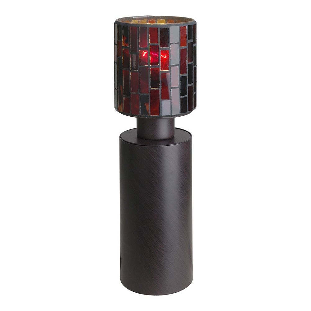 Eglo Troya Table Lamp 1l, Antique Brown Finish, Mosaic Glass