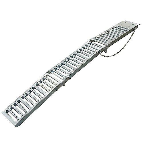Pair Tri-Fold Steel Ramps 9 In. x 72 In. 1000 lbs. per pair
