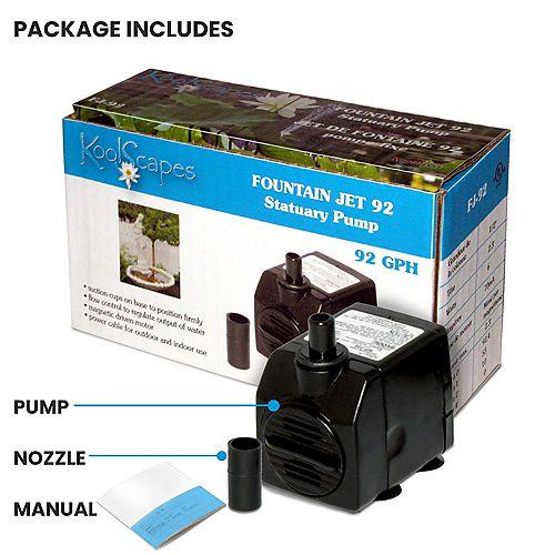 Pompe de fontaine 92 gal/h