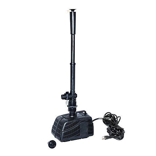 Trousse de pompe d'étang de 530 gal/h avec accessoires