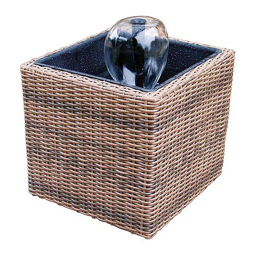 Trousse de bassin en osier pour terrasse/balcon