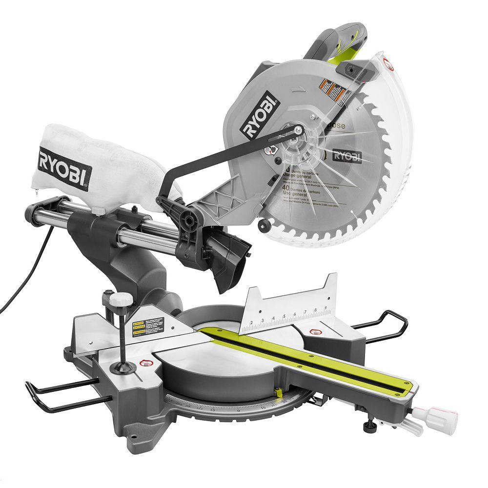 RYOBI 15 Amp 12-Inch Sliding Miter Saw with Laser