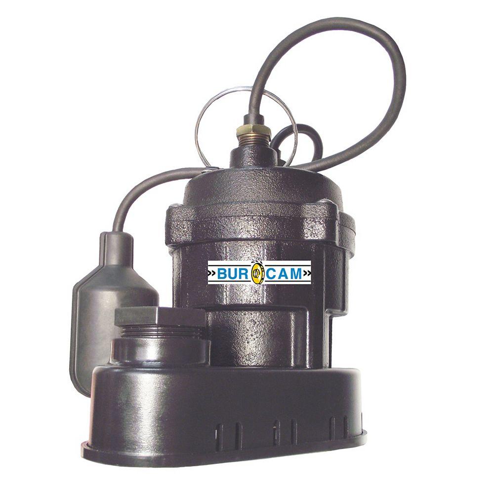 Bur-Cam 1/2Hp Submersible Sump Pump