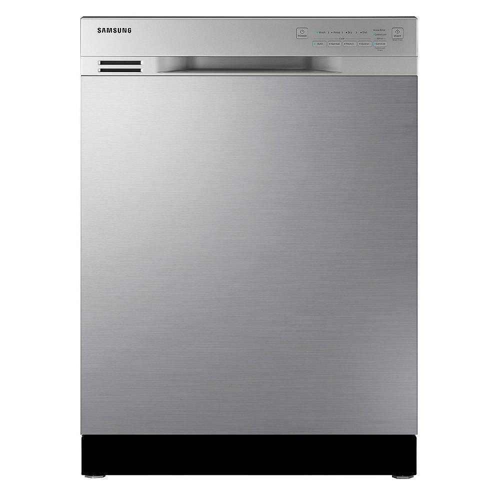 Samsung 24-inch Front Control Dishwasher in Stainless Steel DW80J3020US