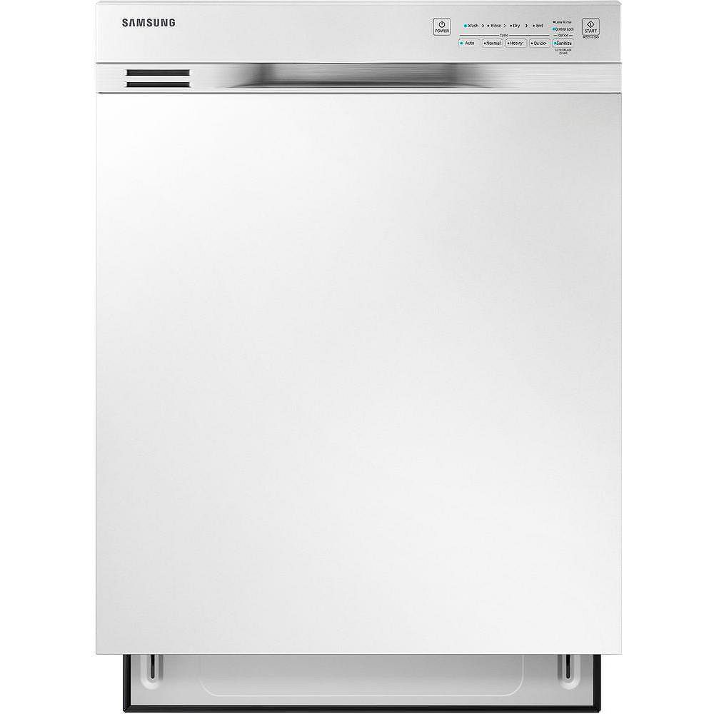 Samsung 24-inch Front Control Dishwasher in White with Stainless Steel Tub - ENERGY STAR®, 50 dPA