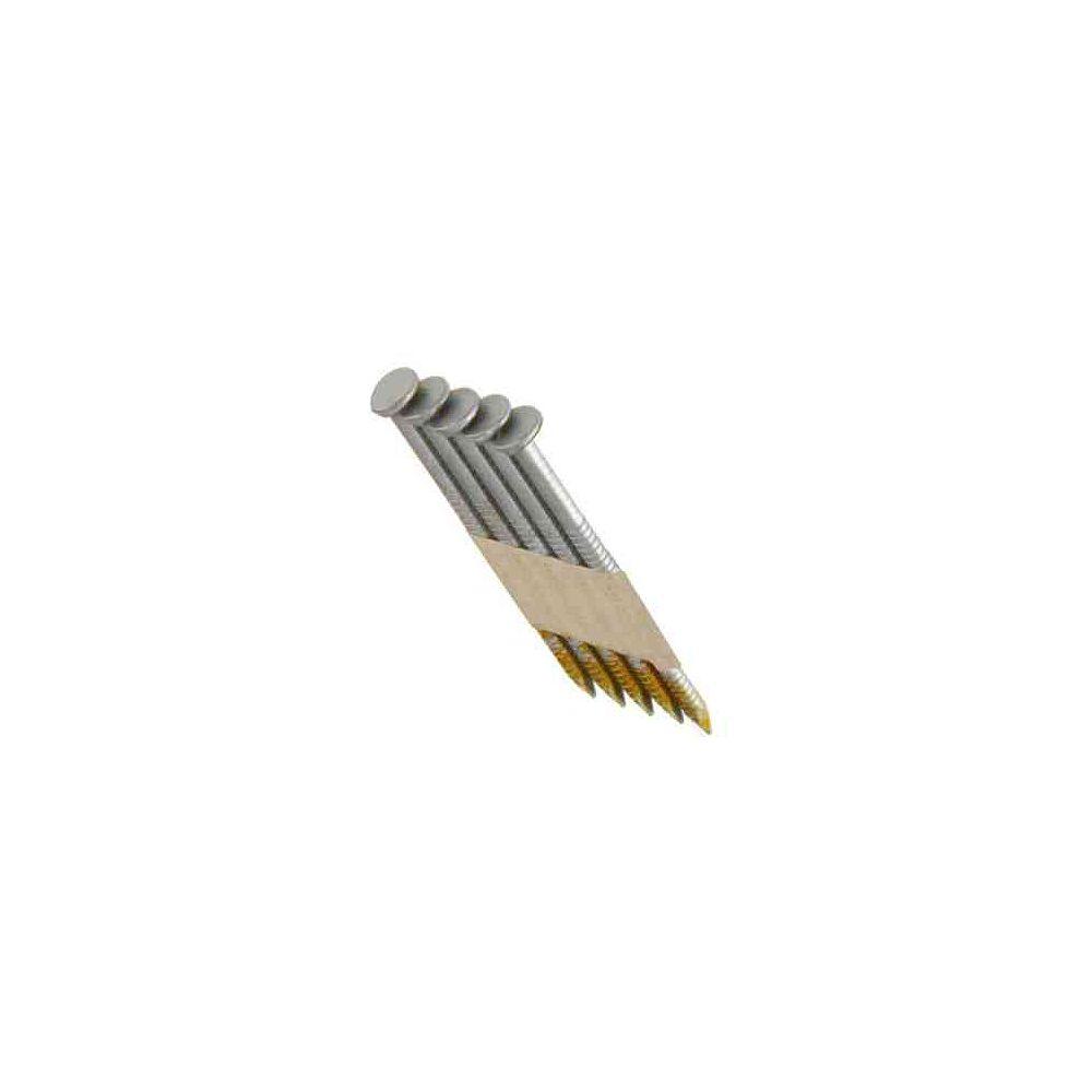 Grip-Rite Clous 30degrés à tige annelée galvanisée par immersion à chaud de 2 x 0,113po (4000 par paquet)