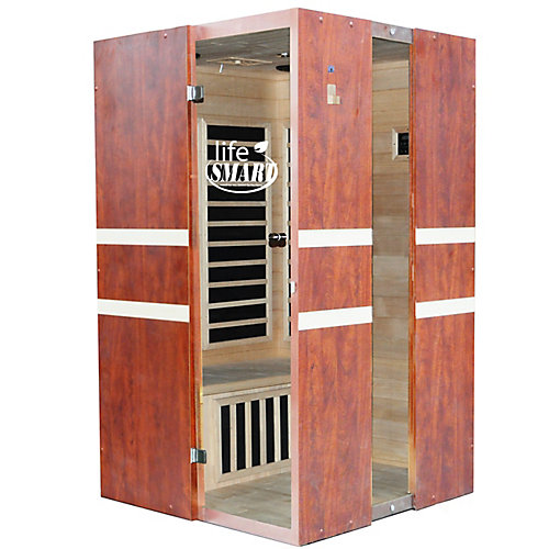 2-Person Euro Design Carbon Tech Sauna with Mp3 & Speakers
