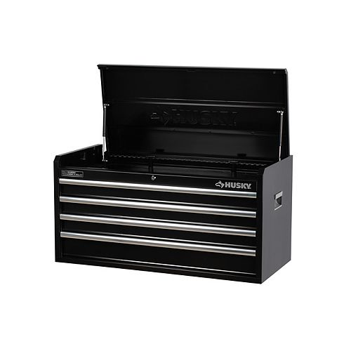 Husky 40-inch 4-Drawer Tool Storage Chest in Black