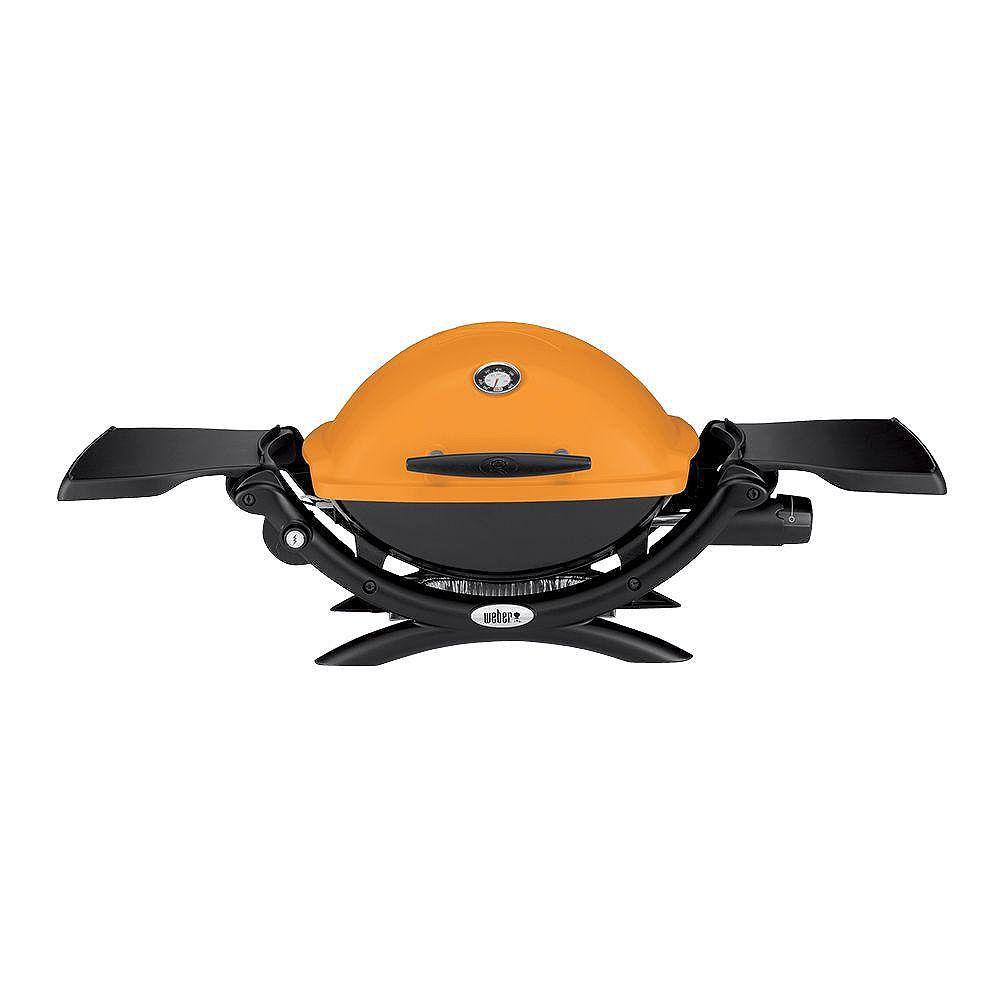 Weber Q 1200 Portable Liquid Propane BBQ in Orange