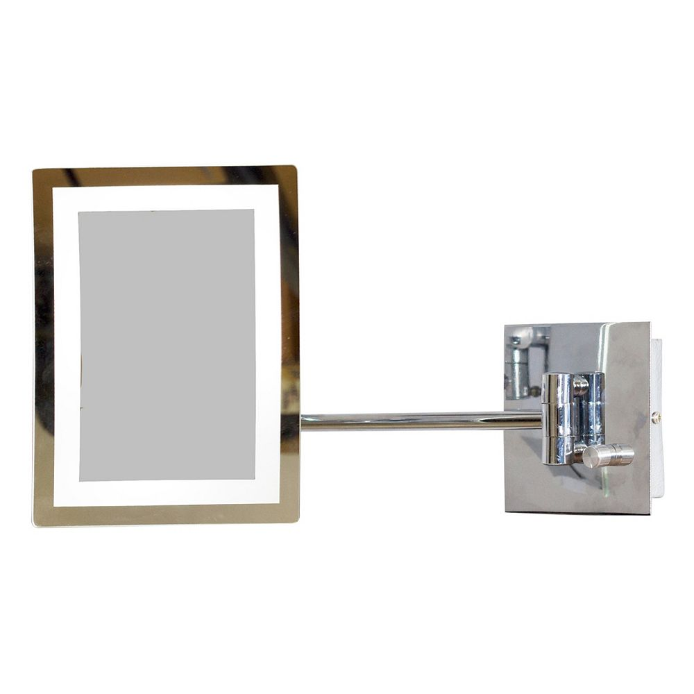 American Imaginations 6.25 In. W x 8.5 In. H Rectangle LED Mirror With Light Dimmer And 3x Zoom