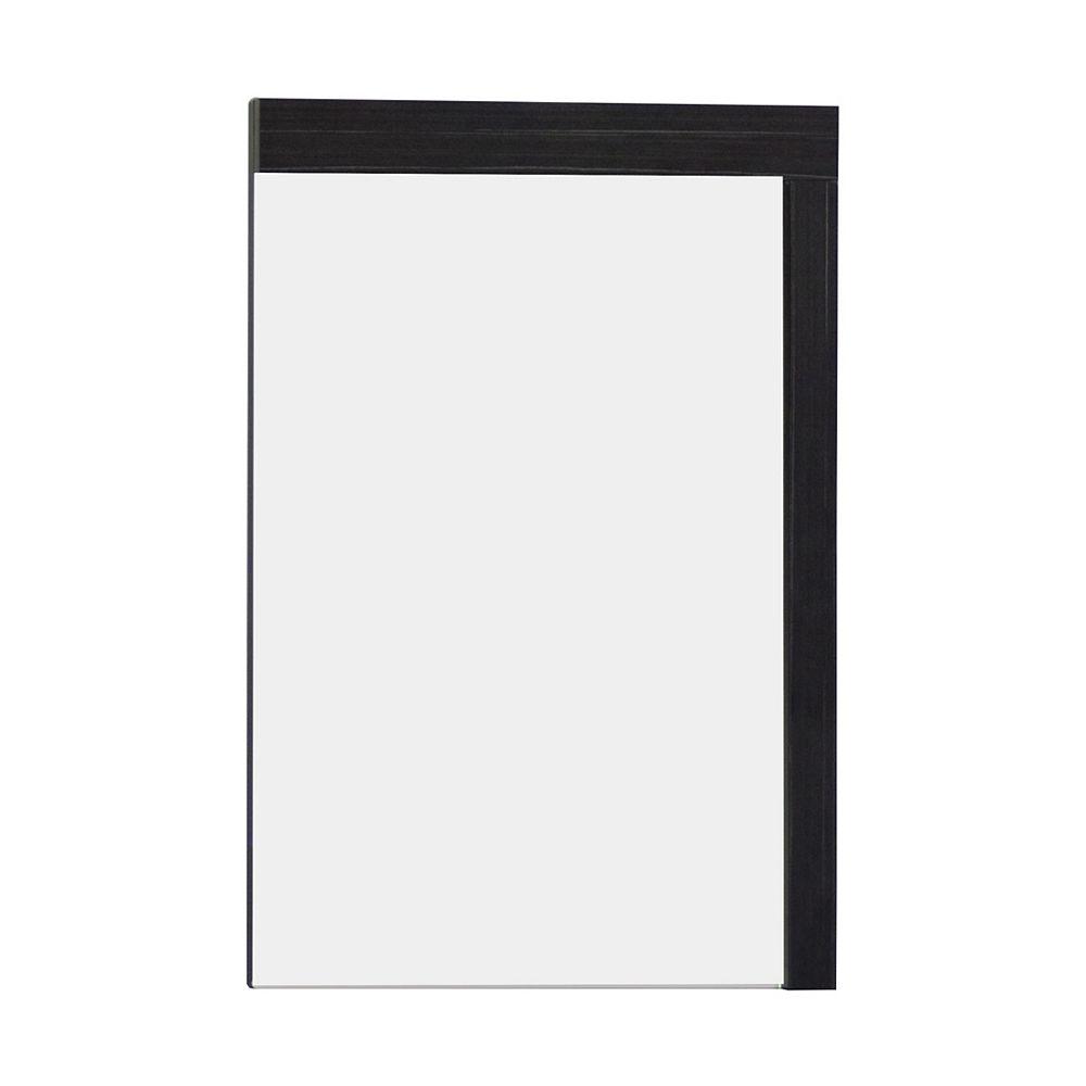 American Imaginations 24 In. W x 32 In. H Modern Plywood-Melamine Wood Mirror In Dawn Grey Finish