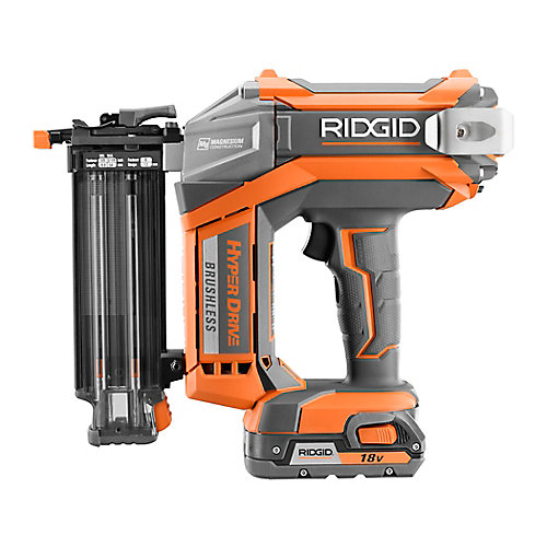 HYPERDRIVE 18V 18-Gauge 2-1/8 inch Brushless Cordless Brad Nailer