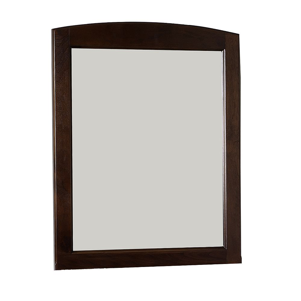 American Imaginations 24 In. W x 32 In. H Rectangle Wood Framed Mirror Without Shelf In Walnut Finish
