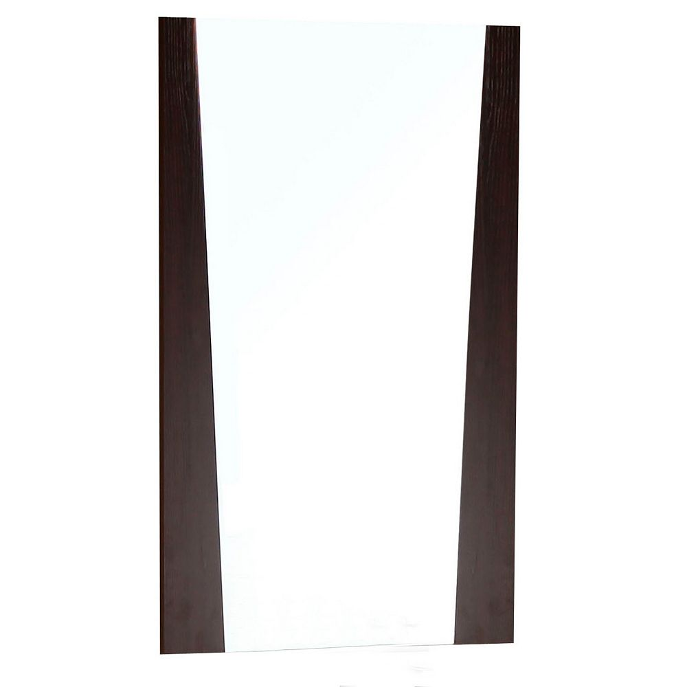 American Imaginations 24 In. W x 34 In. H Modern Plywood-Melamine Wood Mirror In Wenge Finish