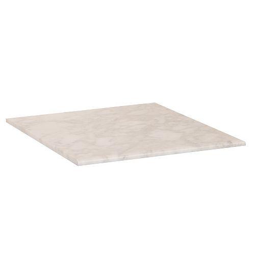 Bellaterra 16-Inch W Carrara Marble Vanity Top in White
