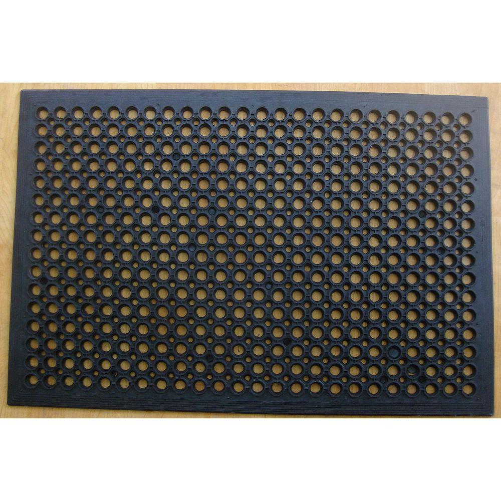 TrafficMASTER Black 1 ft. 11.5-inch x 2 ft. 11.5-inch Indoor/Outdoor Rectangular Ramp Mat