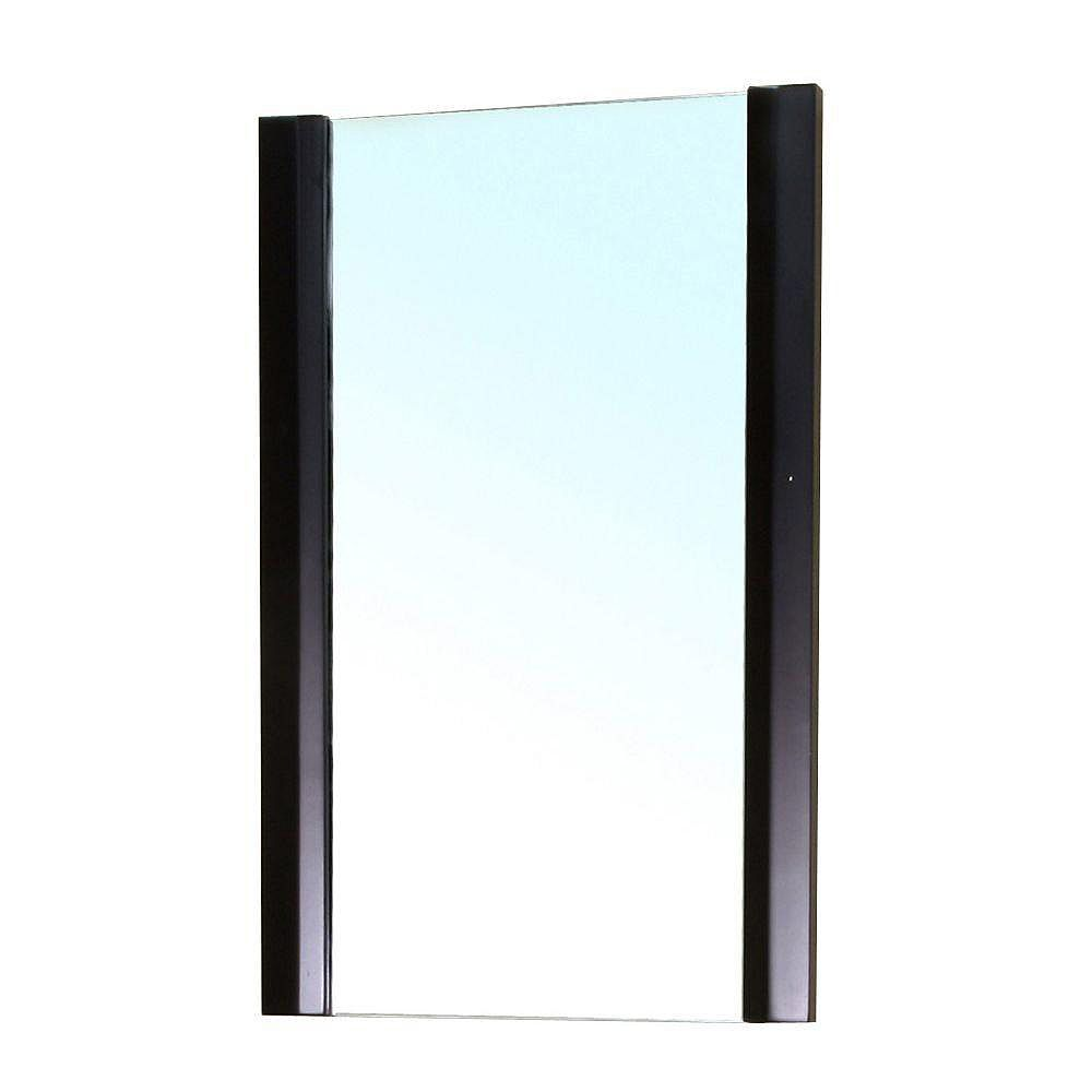 Bellaterra Bexhill 32 In. L X 20 In. W Solid Wood Frame Wall Mirror in Black