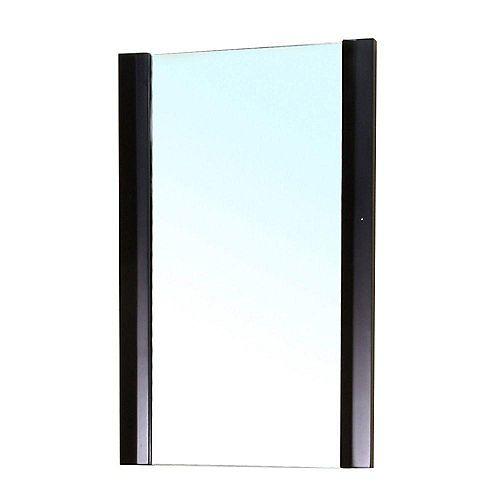 Bexhill Miroir en bois noir de 20 po