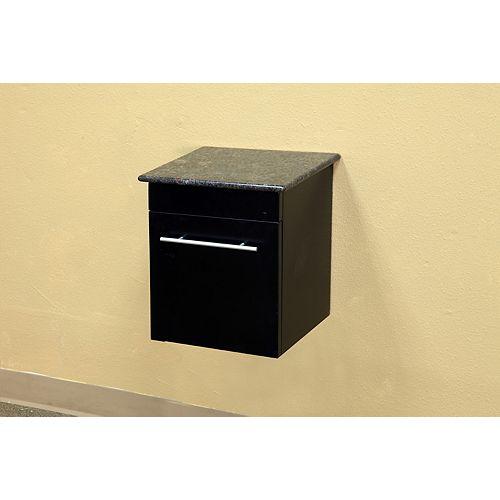 Bellaterra Norwalk Wh 15 In. Solid Wood Side Cabinet in Black