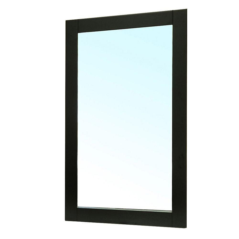 Bellaterra Clematis 36 In. L X 26 In. W Wall Mirror in Black