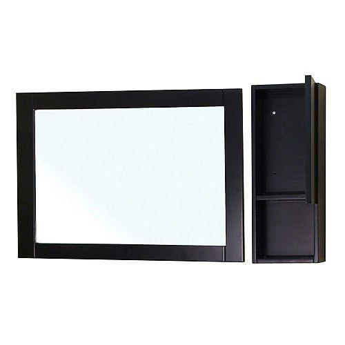 Limerick Miroir en bois noir de 31 po